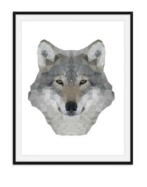 Wolf in speciaal effect - dierenposter