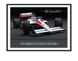 McLaren MP 4/4 Ayrton Senna Poster