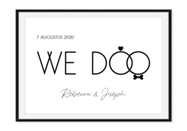 We Doo - Poster met datum en namen