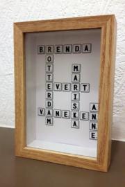 3D Kader Scrabble met eigen namen