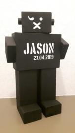 Stoere Robot met naam en datum naar keuze