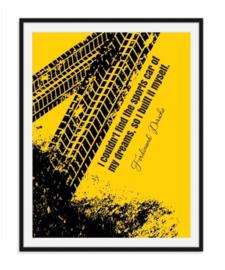 Ferdinand Porsche - Quote Poster