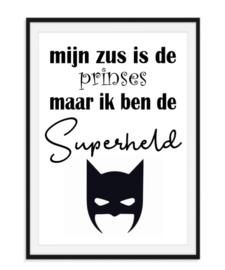 Prinses Superheld - Kinderkamer poster