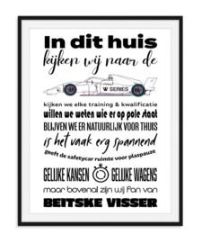 W Series liefhebber poster - Formule W