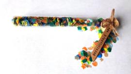 Kleurrijke confetti flessenpost