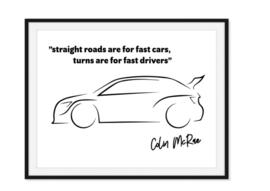 Colin McRae - Quote poster