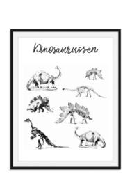 Hippe dinosaurus poster