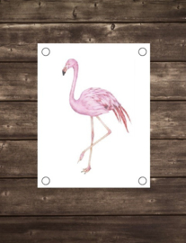 Tuinposter Flamingo - Diverse formaten