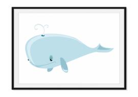 Vrolijke walvis - Poster