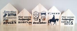 Sinterklaas huisjes set van 3
