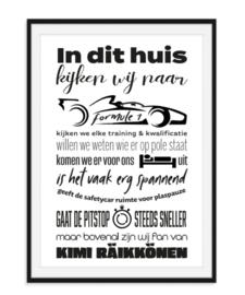 Formule 1 fan poster met naam naar keuze - V2