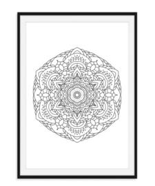 Mandala poster - Bloem versie 6