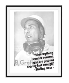 Stirling Moss - Quote poster