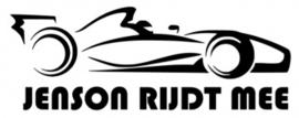 Autosticker Racewagen naam aan boord