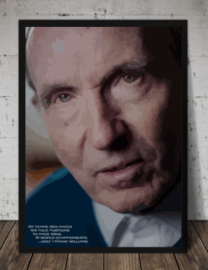 Frank Williams - Quote Poster