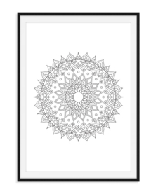 Mandala poster - Bloem versie 1