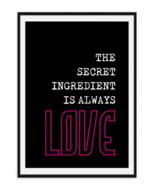 The secret ingredient - Love Poster