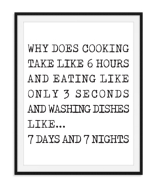 Why does cooking - Keuken poster