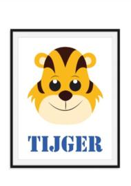 Tijger poster met naam naar keuze