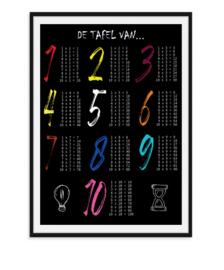 De tafel van - Poster kleur