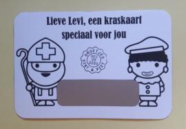 Sint en Piet kraskaart - Speciaal voor jou