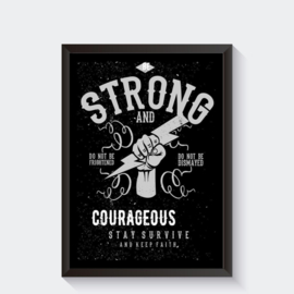 Be strong vintage poster