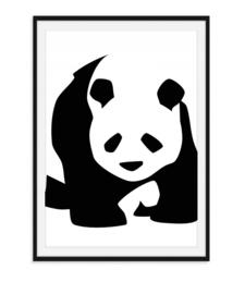 Pandabeer - Zwart Wit Poster