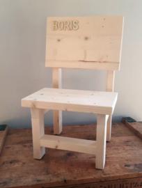 Kinderstoel hout met naam