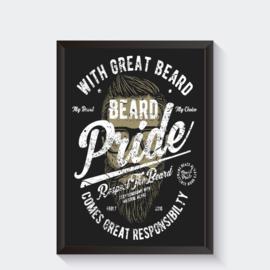 Baard poster beard pride Vintage stijl