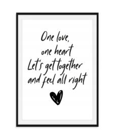 One love One heart - Poster
