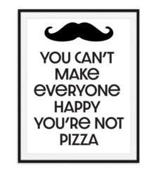 Happy pizza poster