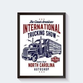 Stoere Amerikaanse truck op poster