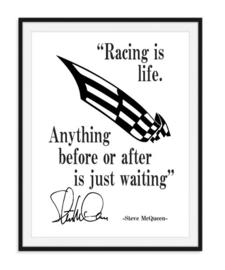 Steve McQueen - Quote poster