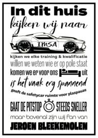 IMSA liefhebber poster
