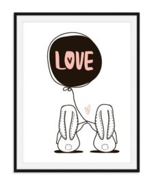 Ballon met love poster - nummer 18