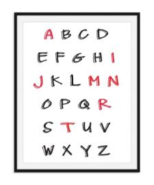 Alfabet met letters van naam in kleur - Poster