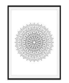 Mandala poster - Bloem versie 4