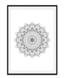 Mandala poster - Bloem versie 3