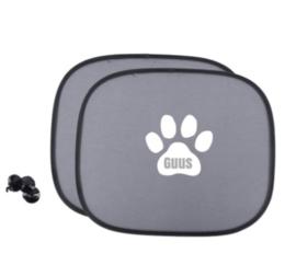 Zonnescherm met naam in hondenpoot - Autoaccessoire