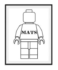 Legopoppetje met naam - Poster