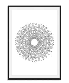 Mandala poster - Bloem versie 7