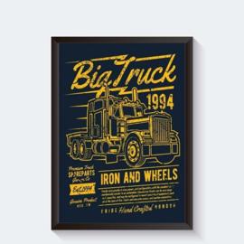 Amerikaanse truck vintage industrieposter