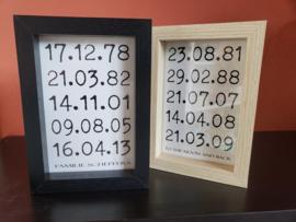 3D Kader Datums met eigen quote