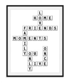 Love Home Poster - Scrabble letters