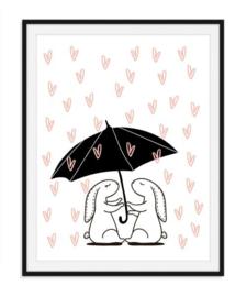 Liefde is samen schuilen poster - nummer 3