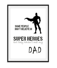 Super heroes dad - Vaderdag poster