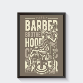 Barber shop kapper poster
