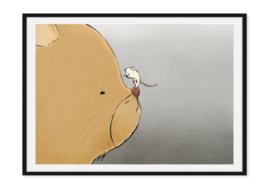 Kat en muis - Poster