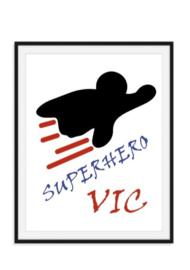 Superhero poster met naam - eigen kleur