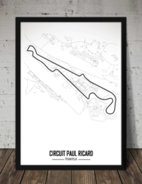 Circuit Paul Ricard Poster - Minimalistisch